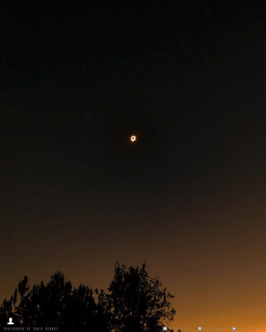 Increadible view of the total solar eclipse in Central Oregon